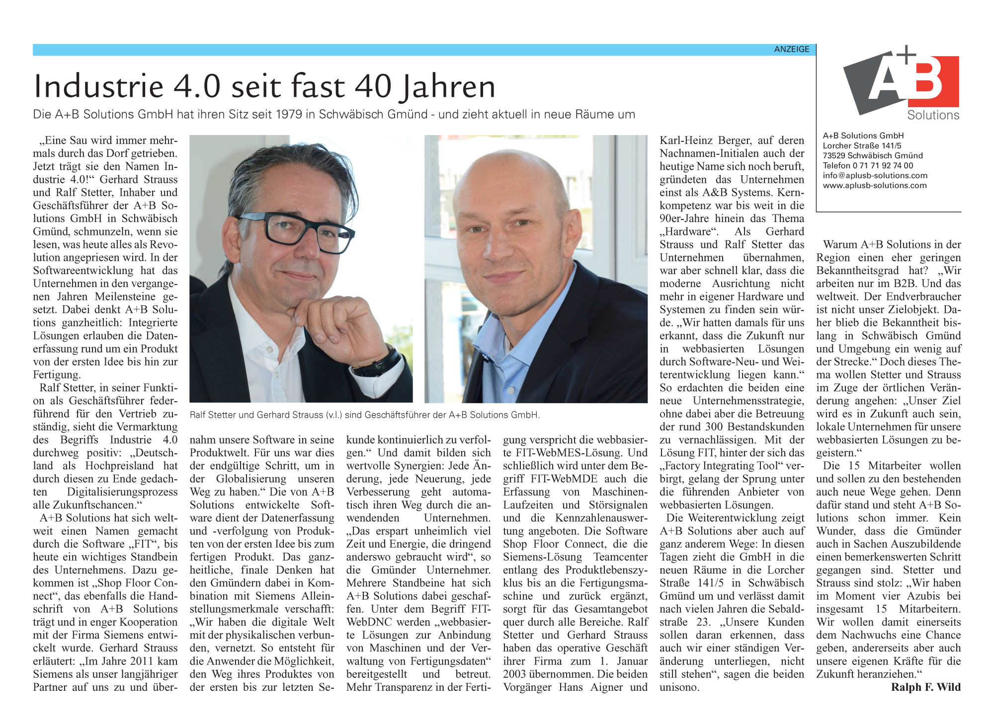 AundB Solutions Industrie 4.0